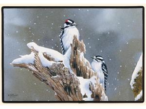 "Fiddler's Elbow FED650 27"" Downy Woodpecker Doormat"