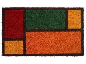 IUC International 990S Color Blocks Hand Woven Coir Doormat