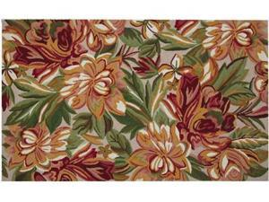 123 Creations C906A.3x5 Foot  Red Magnolia Hooked Rug