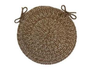 Rhody Rug D-833-15Pad Duet Taupe 15 in. Braided Chair Pad