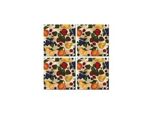 McGowan TT00440 Tuftop Fruit Collage Coasters Set of 4