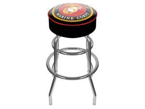 United States Marine Corps Padded Swivel Bar Stool
