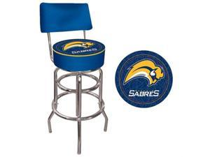 Nhl Buffalo Sabres Padded Bar Stool With Back