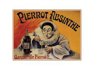 Pierrot Absinthe Garcon By L.E.M.- 18x24 Canvas Art