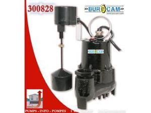 Bur-Cam Pumps 300828 .33 HP Sump Pump with Vertical Switch