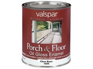 Valspar Brand 1 Quart Clear Base Porch & Floor Oil Enamel Paint  27-1005 QT