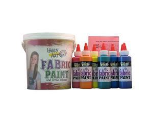Rock Paint / Handy Art RPC885050 Handy Art Fabric Paint Sparkle Kit 9 - 4Oz Bottles