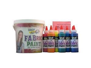 Rock Paint / Handy Art RPC885060 Handy Art Fabric Paint Bucket Kit 9 - 4Oz Bottles