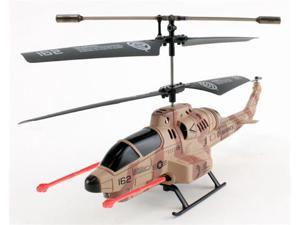 JP Commerce U809-CAMO U809 Missile Launching 3.5ch Cobra Helicopter with Gyro - Camo