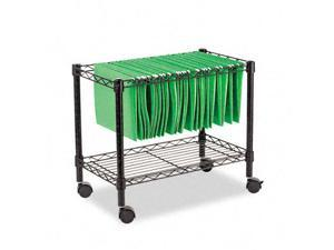 Alera FW601424BL Single-Tier Rolling File Cart  24w x 14d x 21h  Black