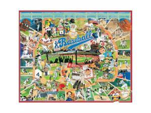 White Mountain Puzzles WM329 Jigsaw Puzzle 1000 Pieces 24 in. x 30 in. - Baseball
