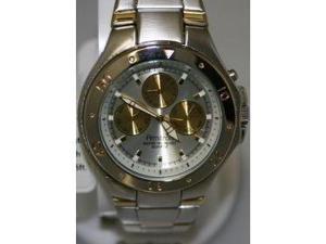 Armitron 20-4394SVTT 3Eye Two Tone Bracelet Watch in Silver Dial