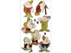 Jolees 300295 Disney Princess Movie Dimensional Stickers-Snow White-The Seven Dwarves