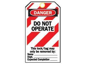 Brady 262-65520 Heavy Duty Inchdo Not Operate Inch Polyester Lockout Ta