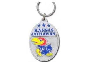 Siskiyou SportsSCK21 College Team Logo Key Ring- Kansas Jayhawks