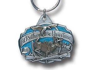 Siskiyou SportsKR108E Pewter Key Ring- I d Rather Be Hunting