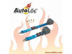 Autoloc SB2PRBL 2 Point Retractable Electric Blue Lap Seat Belt (1 Belt)