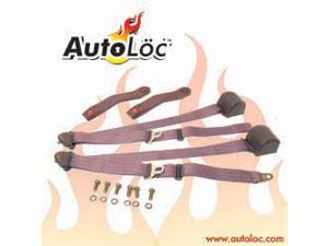 Autoloc SB3PRBG 3 Point Retractable Burgundy Seat Belt (1 Belt)