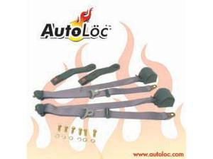 Autoloc SB3PRCH 3 Point Retractable Charcoal Seat Belt (1 Belt)
