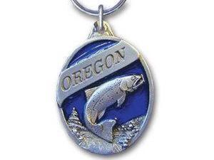 Siskiyou SportsRK103E Pewter Key Ring- Oregon Trout