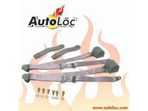 Autoloc SB3PRGR 3 Point Retractable Grey Seat Belt (1 Belt)