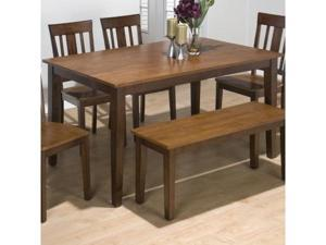 Jofran 875-60 Solid Rubberwood Rectangle Table with Sabre Leg