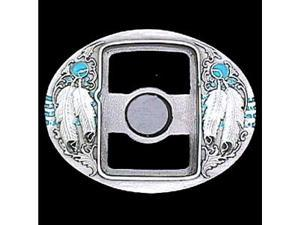 Siskiyou Gifts U7E Belt Buckle- Indian Feathers- Zippo Lighter