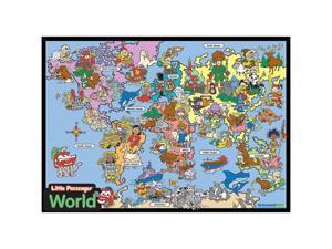 Universal Map 0762546654 Kids World Framed Wooden Puzzle - Little Passenger