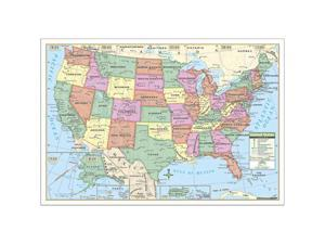 Universal Map 0762569557 US Rolled Map Laminated