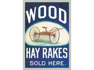 Buyenlarge 14479-3P2030 Wood Hay Rakes Sold Here 20x30 poster