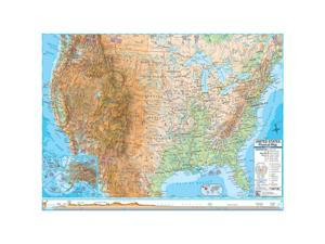 Universal Map 0762575727 US Advanced Physical Rolled Map Paper