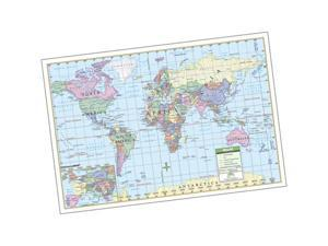 Universal Map 0762518952 World Rolled Map Laminated