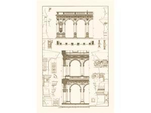 Buyenlarge 09340-4P2030 Porch of the Cathedral of Spoleto and Arcade from Palazzo Farnese 20x30 poster