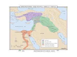 Universal Map 0762550058 No. 106 Mesopotamia and Egypt, 4000- 1000 BCE