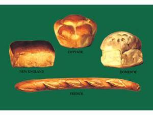 Buyenlarge 08780-3P2030 New England, Cottage, Domestic, and French Breads 20x30 poster