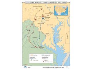 Universal Map 0762549718 No. 038 Fredericksburg To Gettysburg 1862-1863