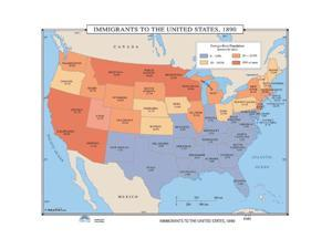 Universal Map 0762549769 No. 043 Immigrants To The US, 1890