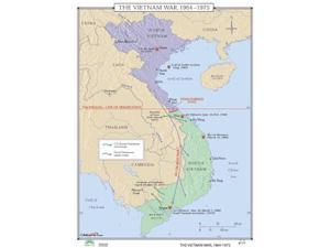 Universal Map 0762550759 No. 177 Vietnam War 1964-1975