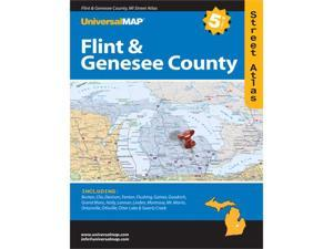 Universal Map 0762563516 Flint and Genesee County MI Atlas 5th Edition