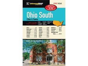 Universal Map 0762576618 Ohio South Cities and Towns Atlas