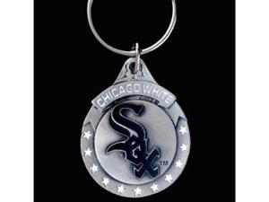 Siskiyou Gifts SBK145 Team Logo Key Ring- White Sox