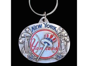 Siskiyou Gifts SBK151 Team Design Key Ring- Yankees