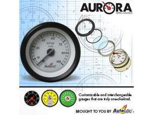 Autoloc GART Aurora Tachometer W/ Replaceable Face