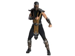 Rubies Costume Co 880286R-STD Mens Deluxe Mortal Kombat Scorpion Costume - Standard