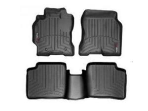 WeatherTech 44140-1-2 Front and Rear Floorliners Black Jeep Liberty 08-11