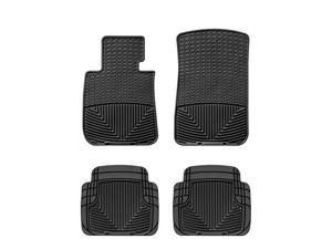 WeatherTech W61 W50 2009 2010 Acura TL Black All Weather Floor Mats Rows 1 2