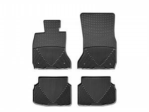 WeatherTech W135-W133 Front and Rear Rubber Mats Black BMW 7-Series 09-11