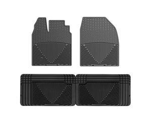 WeatherTech W186-W25 Front and Rear Rubber Mats Black Ford Edge 07-10