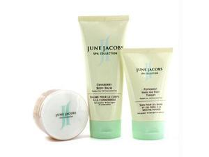 June Jacobs 13481899914 At Home Spa Kit: Peeling Masque plus Hand and amp&#59; Foot Therapy plus Body Balm - 3pcs