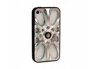 Sumdex MTF-823MS Full Speed Wheel Case for iPhone 4-4S - Matt Silver